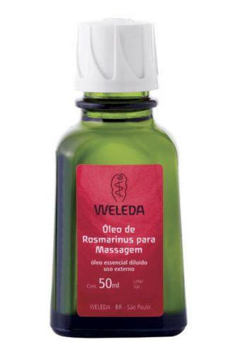 Óleo de Rosmarinus, Weleda - As propriedades terapêuticas do Rosmarinus possuem ação estimulante que otimiza a irrigação sanguínea, promovendo a nutrição das células e eliminando resíduos do organismo. Preço sugerido: R$ 30. SAC 0800 7722777