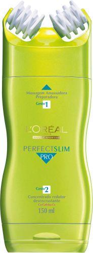 Perfect Slim Pro, L'Oréal Paris - O fabricante investiu no combate à celulite já instalada. Assim, combinou substâncias drenantes e redutoras com uma eficiente maneira de aplicar: dois rolos massageadores, que promovem uma intensa micro-circulação sanguínea, favorecendo a drenagem dos tecidos. Preço sugerido: R$ 54,90. SAC 0800-7016992