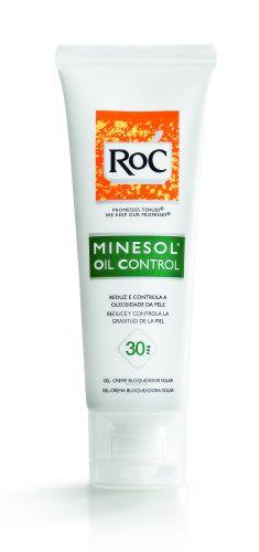 O Minesol Oil Control FPS 30, da RoC, é um protetor solar é indicado para quem tem pele oleosa. A fabricante promete, além de toque seco, capacidade de reduzir a oleosidade da pele. Preço sugerido: R$ 54,00. SAC: 0800 703 6363