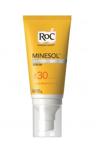 Sua fórmula possui proteção UVB e UVA balanceada, além de um potente antioxidante, que neutraliza radicais livres e age no colágeno da pele. Protetpr solar Serum Minesol Antioxidant FPS 30; R$ 56,13, da Roc (SAC: 0800-7036363)Preços consultados em dezembro de 2010