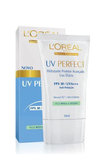 Desenvolvido sob medida para a pele das brasileiras, contém ativos de ação antioxidante e antipoluição. Protetor solar UV Perfect Pele Mista a Oleosa; R$ 32,90, da L'Oréal (SAC 0800-7016992)Preços consultados em dezembro de 2010