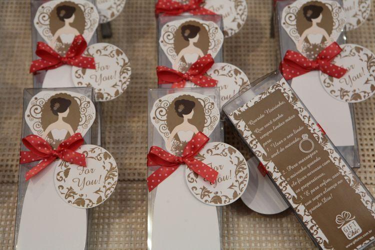 Um dos itens importantes da festa de casamento apresentados durante o Spicy Wedding Day são diferentes opções de lebrancinhas. Na foto, modelo oferecido pela Gift Chic (18/11/2010)