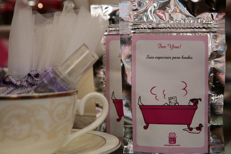 Creme para mãos e sais de banho de Chandon são opção da Gift Chic, que apresentou suas novidades em lembrancinhas de casamento no Wedding Day da loja Spicy, em São Paulo (18/11/2010)