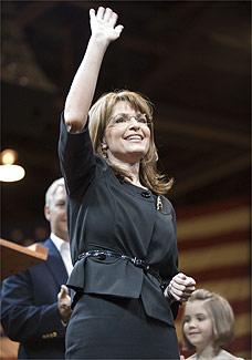 A candidata a vice-presidente na chapa republicana Sarah Palin - AP