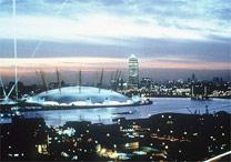 A Cúpula do Milênio, em Londres, projetada por Rogers