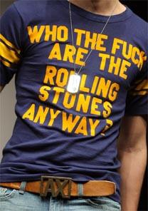 Camiseta dos Rolling Stones é uma das peças que estará no leilão da Christie's em NY