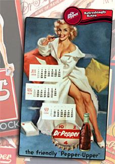 Antiga propaganda da fabricante norte-americana de refrigerantes Dr Pepper - Reprodução