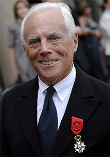 O estilista italiano Giorgio Armani - EFE