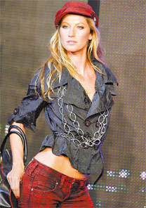 A modelo Gisele Bündchen que acha sexy os homens que defendem a Amazônia