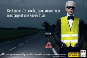 O estilista Karl Lagerfeld na campanha - BBC