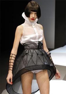 Look da coleção do estilista coreano Lie Sang Bong - Reuters
