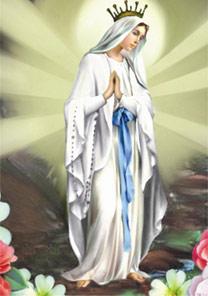A imagem de Madonna di Lourdes, que pode ser baixada<BR>e enviada via celular - BBC
