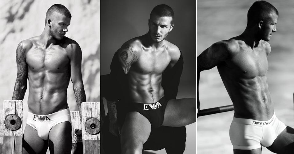 O jogador britânico de futebol David Beckham foi o muso da linha de cuecas da Emporio Armani entre 2007 e 2009. As campanhas foram fotografadas pela dupla Mert Alas e Marcus Piggott