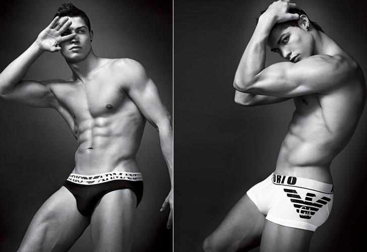 O jogador português de futebol Cristiano Ronaldo substituiu o colega inglês David Beckham como garoto-propaganda da linha de cuecas da Emporio Armani. O atleta participou das campanhas das temporadas Verão e Inverno 2010 da grife italiana