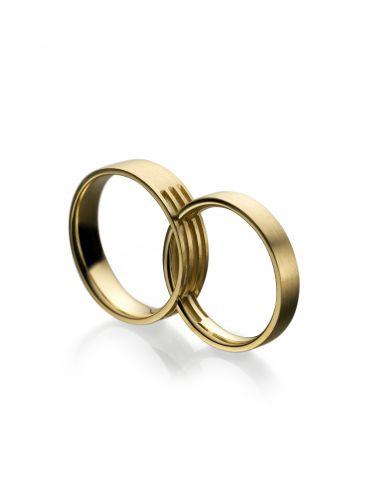 Aliança Infinity em ouro amarelo, na Vivara (SAC: 0800 7744999)