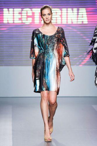 A Nectarina apresenta coleção para o Inverno 2012 durante o terceiro dia de Mega Polo Moda. O evento é realizado pelo famoso shopping atacadista do Brás, bairro de São Paulo conhecido pelas lojas de moda popular (29/02/2012)