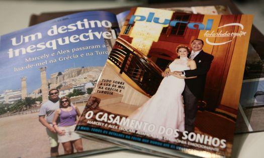 Revista jornalística com a cobertura do casamento da Foto Studio. Mais informações no site