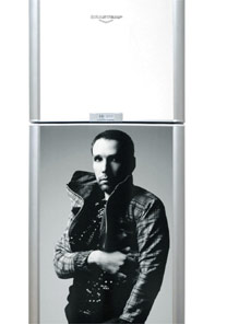 A imagem do estilista Alexandre Herchcovitch na exposição