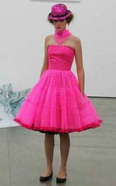 Tomara-que-caia em tule foi um dos destaques da coleção de Do Estilista, que priorizou o pink - Alexandre Schneider/UOL