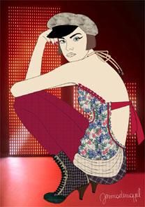 Look feminino faz parte na coleção de Inverno 2008 da Colcci, que será desfilada na terça (8) - Divulgação