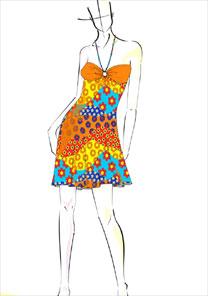 Croqui da coleção da marca de moda praia Sais