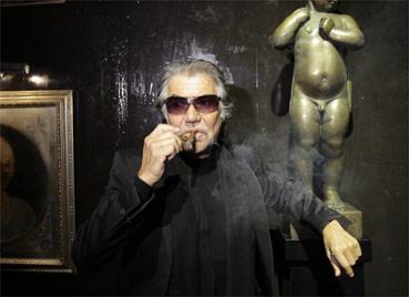 O estilista italiano Roberto Cavalli