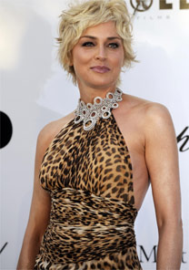 A atriz Sharon Stone, que está em anúncios da Christian Dior - AFP