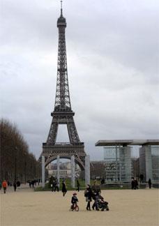 Vista da Torre Eiffel, em Paris